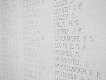 Roll of Honour Royalty Free Stock Photo