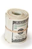 Roll of hundred dollars Stock Photos