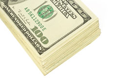 Roll of hundred dollars bank n. Otes Royalty Free Stock Image