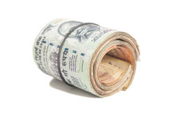 Roll of Indian rupees Stock Photography