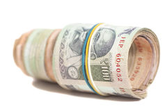 Roll of Indian rupees Royalty Free Stock Photography