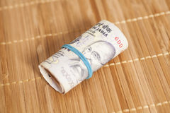 Roll of Indian rupees Royalty Free Stock Photo