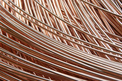 Roll of industrial wire. Coil of industrial metal wire Stock Image