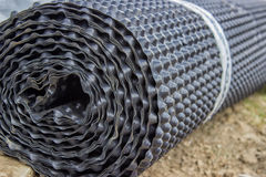 Roll of insulation material Stock Photo
