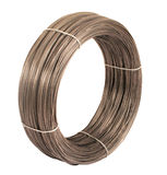 Roll of iron wire. Roll of iron wire, close up Stock Image