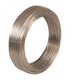 Roll of iron wire. Roll of iron wire, close up Stock Photo