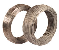 Roll of iron wire. stock photos