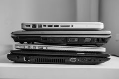 Roll of the laptops Stock Images
