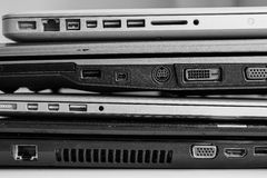 Roll of the laptops Stock Image