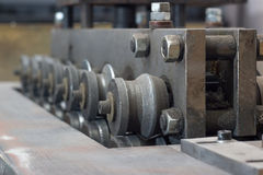 Roll Leveling machine Stock Photo