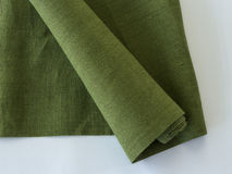 Roll of linen cloth Stock Photos