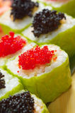 Roll made of Smoked fish and  roe Stock Image