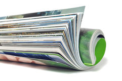 Roll of magazine Stock Photography