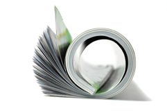 Roll of magazine Royalty Free Stock Photo