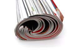 Roll of Magazine. Closeup of magazine roll together (Shallow DOF stock image