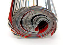 Roll of Magazine royalty free stock photography