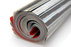Roll of Magazine. Closeup of magazine roll together (Shallow DOF royalty free stock photos