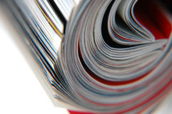 Roll of Magazine Closeup. Closeup of magazine roll together (Shallow DOF stock photo