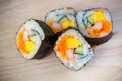 A roll of Maki Sushi Stock Photography
