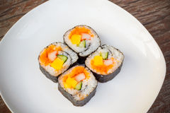 A roll of Maki Sushi Stock Image