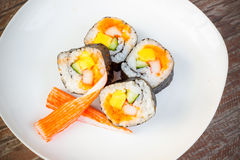 A roll of Maki Sushi Royalty Free Stock Image