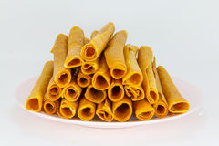 Roll of mango sheet. The roll of mango sheet or dried mango paste Royalty Free Stock Images