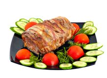 Roll from meat Royalty Free Stock Photography
