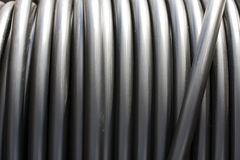 Roll of Metal Tubes Royalty Free Stock Photo