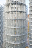 Roll of metal wire inside warehouse courtyard. Piles of roll of metal wire inside of warehouse for construction materials Stock Photos