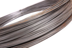 Roll of metal wire Royalty Free Stock Image