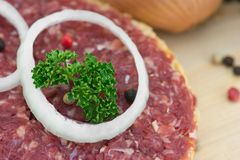 Roll with minced pork Royalty Free Stock Images