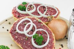 Roll with minced pork Royalty Free Stock Photography