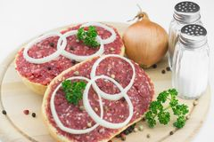 Roll with minced pork Royalty Free Stock Photo