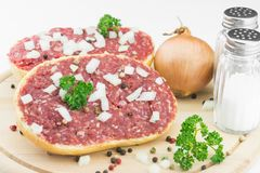 Roll with minced pork Royalty Free Stock Image