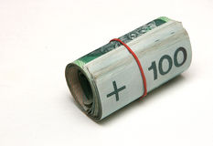Roll of money Stock Photo
