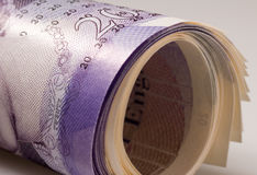 A roll of money Stock Photography