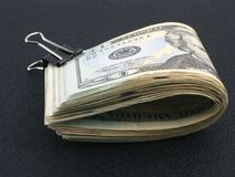 Roll of money. Cash Royalty Free Stock Photos