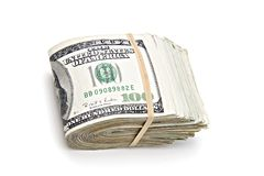 Roll of money dollar Stock Photography