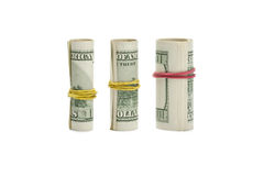 Roll money growth on white Stock Images