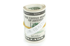 Roll of money for health Stock Images