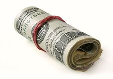Roll of money Royalty Free Stock Images