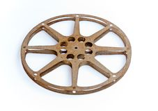 Roll movie. The wheel movie on white background Stock Photography