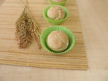 Roll muffins with spelt, millet and rice Royalty Free Stock Images
