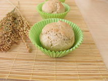 Roll muffins with spelt, millet and rice Stock Photo