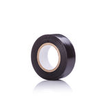 Roll new black tape for electrical. Studio shot isolated on whit Royalty Free Stock Images