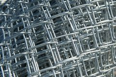 Roll of New Chain Link Fencing Material Royalty Free Stock Images