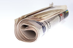 Roll of Newspaper Stock Photo