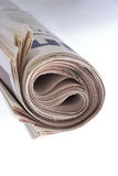 Roll of Newspaper Royalty Free Stock Images