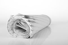 Roll of newspaper Royalty Free Stock Photos