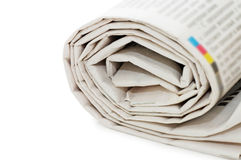 Roll of newspapers Stock Photos